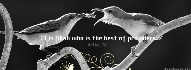 It is ALLAH who is the best of providers. Surah Hajj